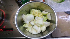 もつ鍋 野菜下処理