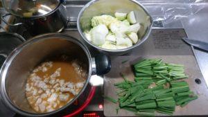 もつ鍋 煮る