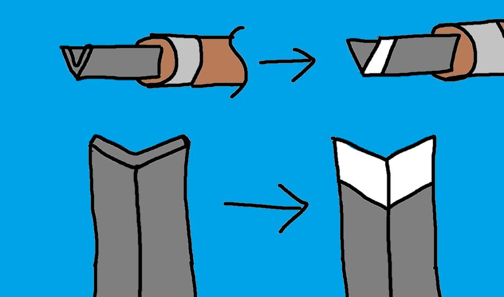 彫刻刀 三角刀 刃のつけ方
