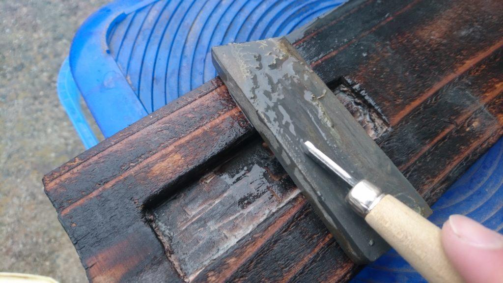 彫刻刀 三角刀 仕上げ 砥ぎ