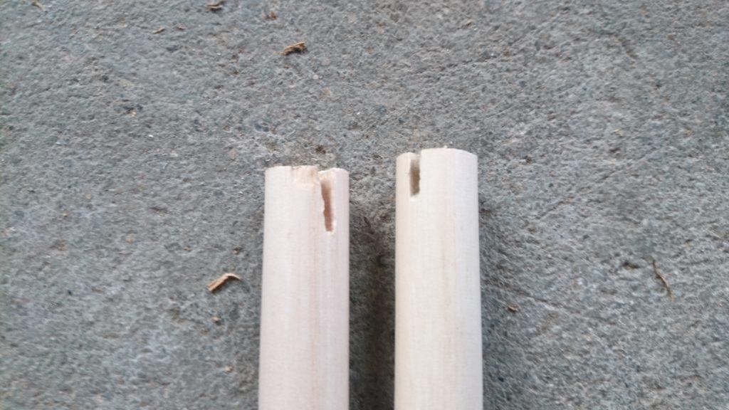 止まり木製作 100均木材 加工2