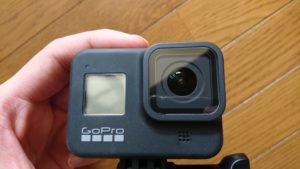 GoPro HERO8 Black (ゴープロ8)保護フィルム貼り付け後 表