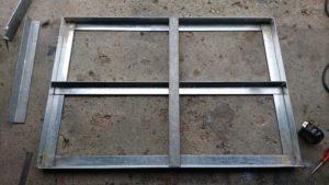 DIY台車 溶接 台座補強2