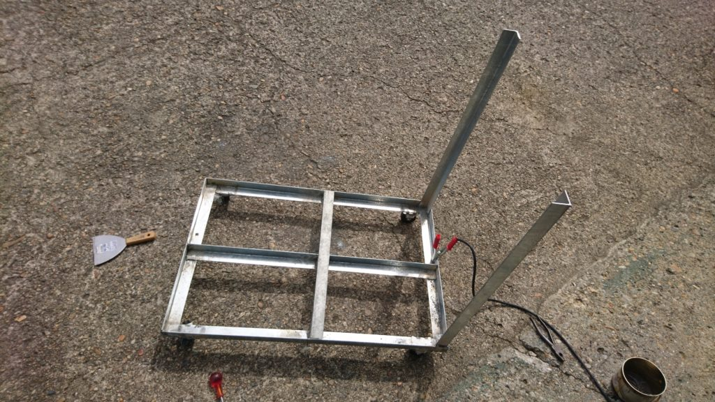DIY台車 ハンドル溶接