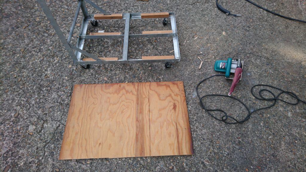 DIY台車 天板製作