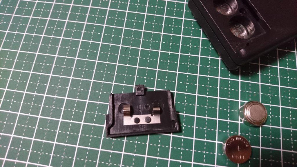 ポケットゲーム機 電池ボックス フタ加工