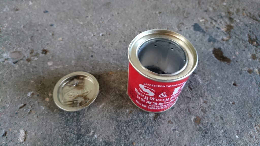 S&B特製ヱスビーカレー缶でアルコールストーブ 完成