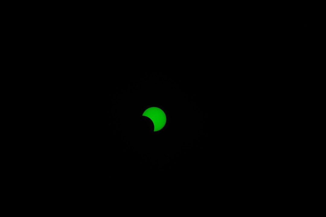 2020年6月21日(夏至)の部分日食撮影。写真1