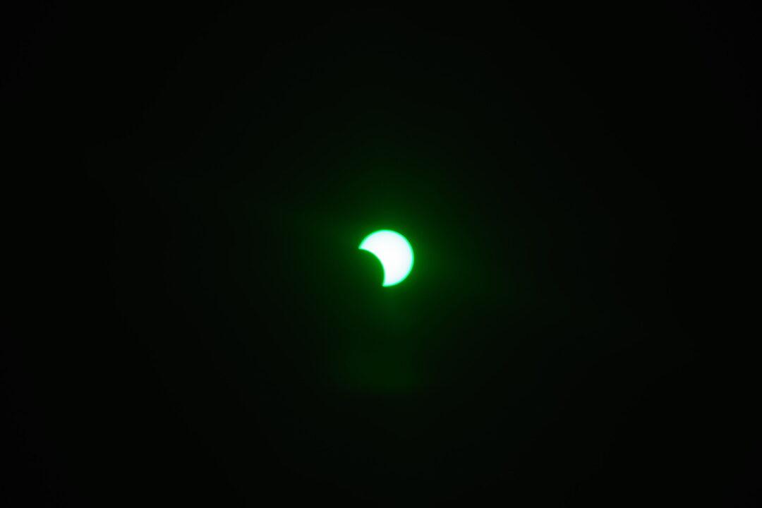 2020年6月21日(夏至)の部分日食撮影。写真2