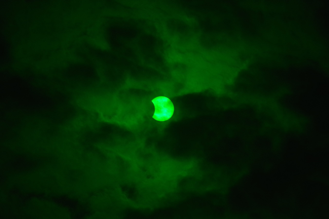 2020年6月21日(夏至)の部分日食撮影。写真4