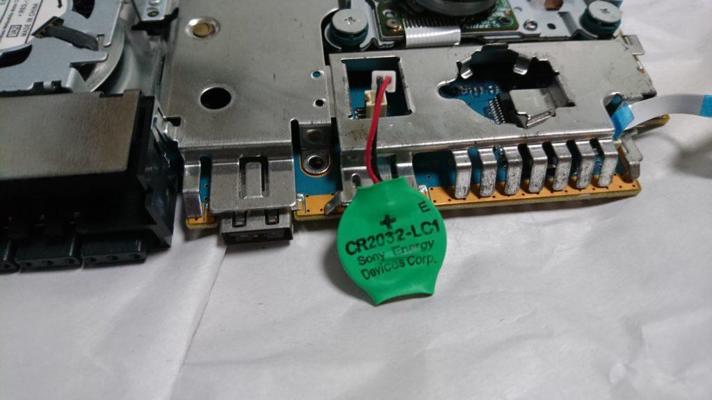 ジャンク品 電源が入らない薄型PS2(SCPH-70000)を修理しました! ボタン電池交換。