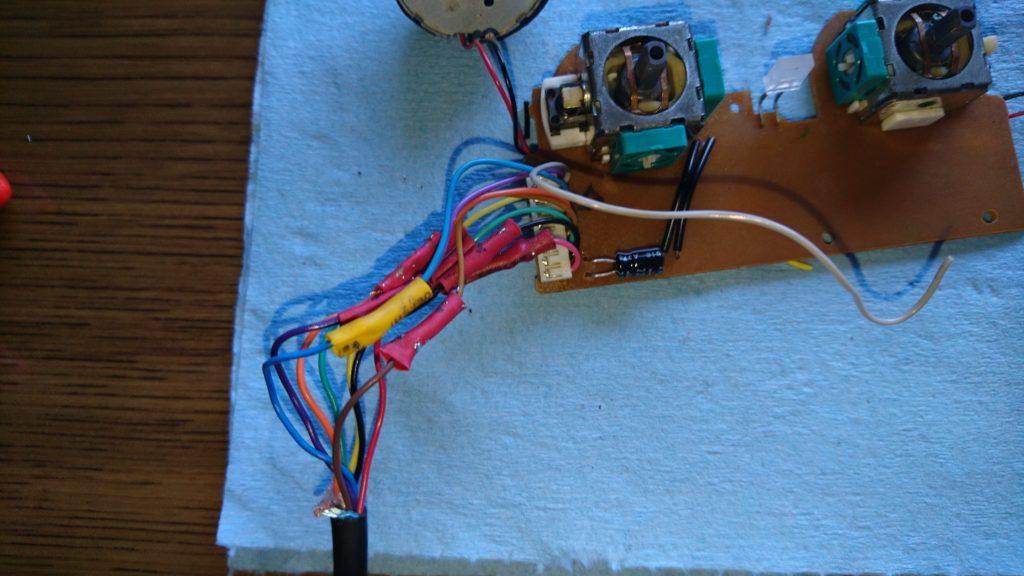 DUALSHOCK2 ケーブル断線を修理してみた。コードはんだ付け