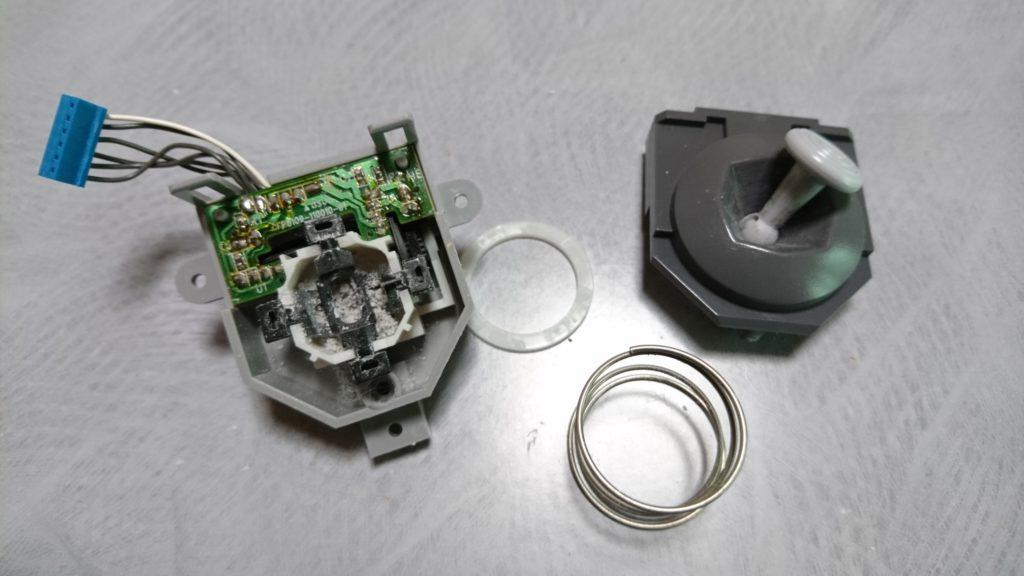 N64コントローラー 傾いたステックの内部