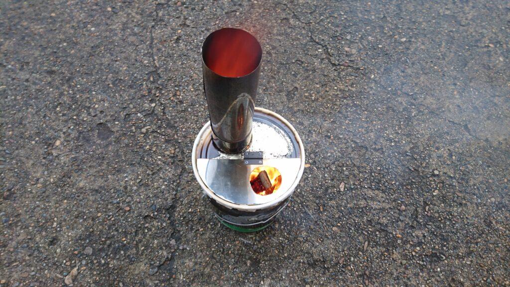 自作ペール缶ストーブ