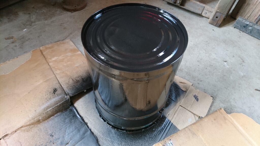 ペール缶ストーブ 耐熱ペイント