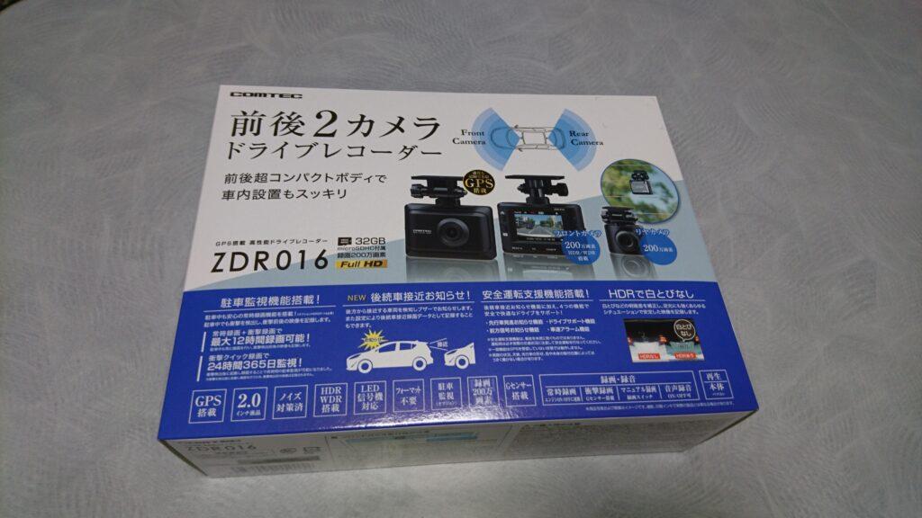 コムテック製ドラレコ『ZDR016』をダイハツタントに取り付け!