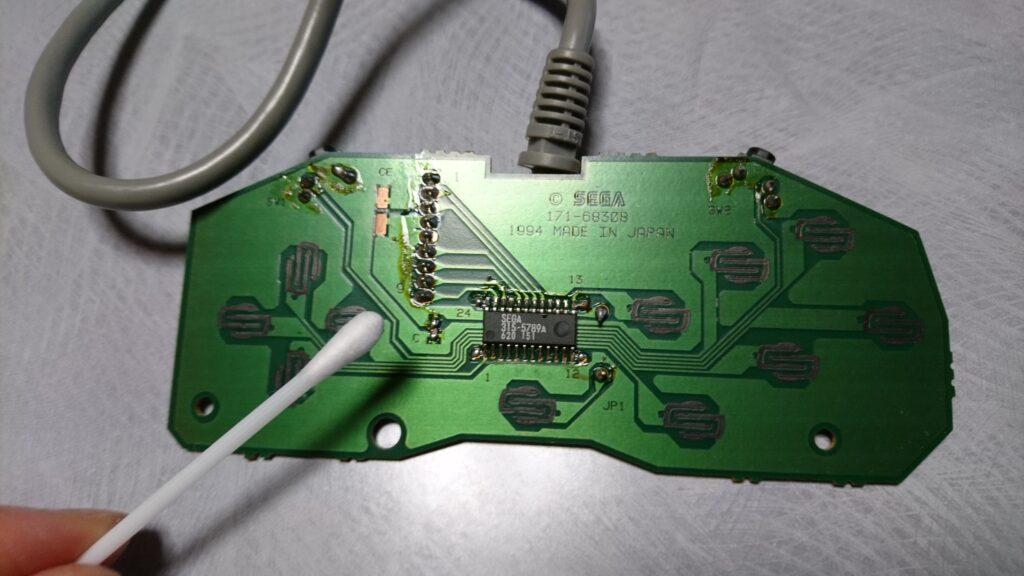 セガサターン コントローラー基板清掃