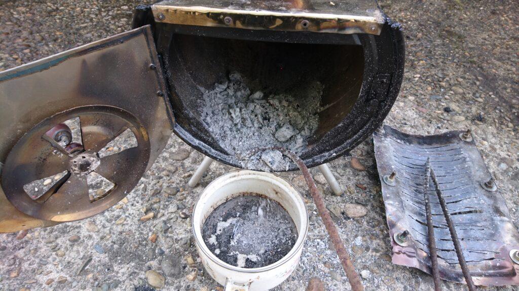 自作ペール缶薪ストーブ製作 片付け、後処理