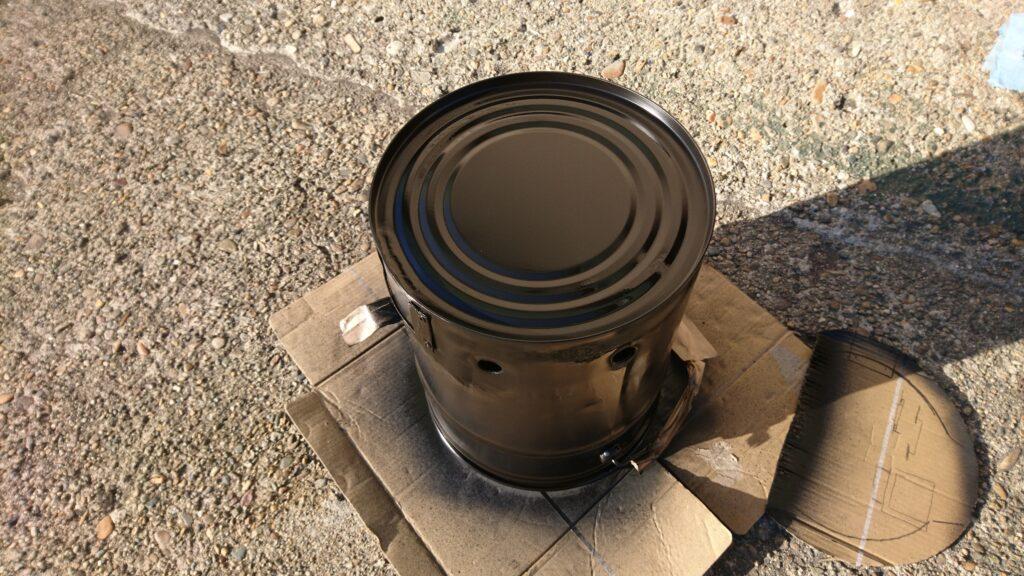 ペール缶ウッドガスストーブ製作! 耐熱ペイント