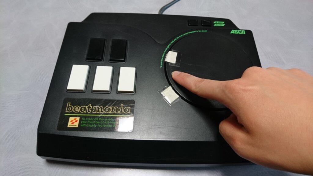 ASCII製ビートマニア専用コントローラー ターンテーブル改善